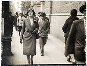 fashionable dressed young lady walking in the street ca 1920s