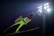 Poland, Wisla Malinka - 2017 November 18: Stefan Kraft from Austria soars through the air during FIS Ski Jumping World Cup Wisla 2017/2018 - Day 2 at jumping hill of Adam Malysz on November 18, 2017 in Wisla Malinka, Poland.<br /> <br /> Mandatory credit:<br /> Photo by &copy; Adam Nurkiewicz<br /> <br /> Adam Nurkiewicz declares that he has no rights to the image of people at the photographs of his authorship.<br /> <br /> Picture also available in RAW (NEF) or TIFF format on special request.<br /> <br /> Any editorial, commercial or promotional use requires written permission from the author of image.