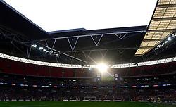 Sun sets at Wembley  - Photo mandatory by-line: Joe Meredith/JMP - Mobile: 07966 386802 - 22/03/2015 - SPORT - Football - London - Wembley Stadium - Bristol City v Walsall - Johnstone Paint Trophy Final