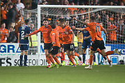 30th August 2019; Dens Park, Dundee, Scotland; Scottish Championship, Dundee Football Club versus Dundee United; Calum Butcher of Dundee United celebrates after scoring for 4-1