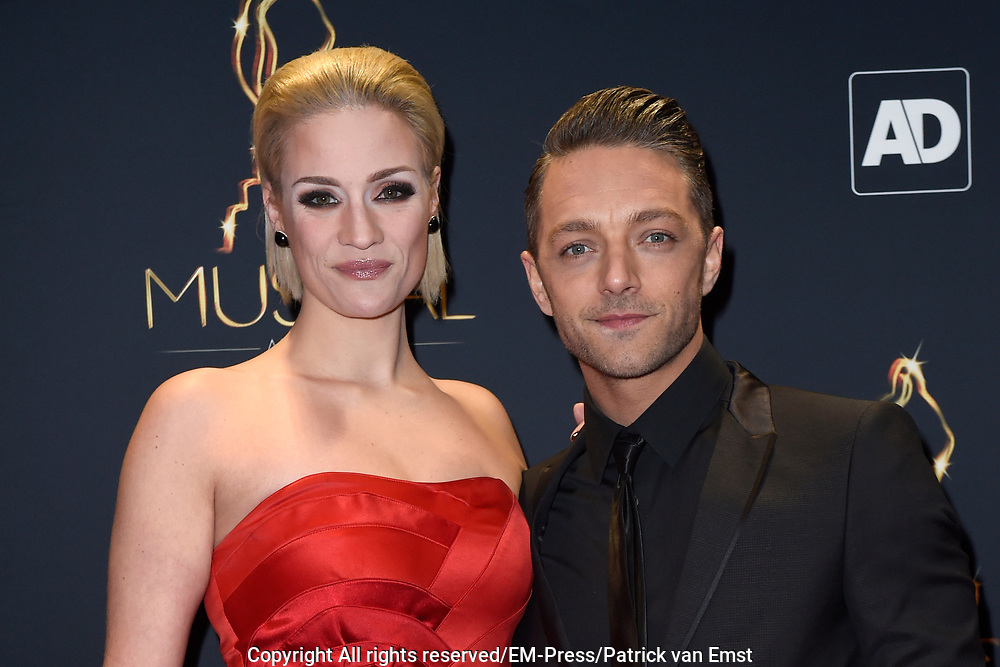 Musical Awards Gala 2016 in het Beatrix Theater Utrecht<br /> <br /> Op de foto:  Tommie Christiaan en partner Michelle Splietelhof