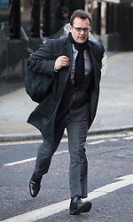 © London News Pictures. 27/01/2014. London, UK. ANDY COULSON arriving at The Old Bailey, where  Actor Jude Law is due to give evidence in the trial of former News of The World employees accused of phone hacking and and payments to officials. Photo credit: Ben Cawthra/LNP