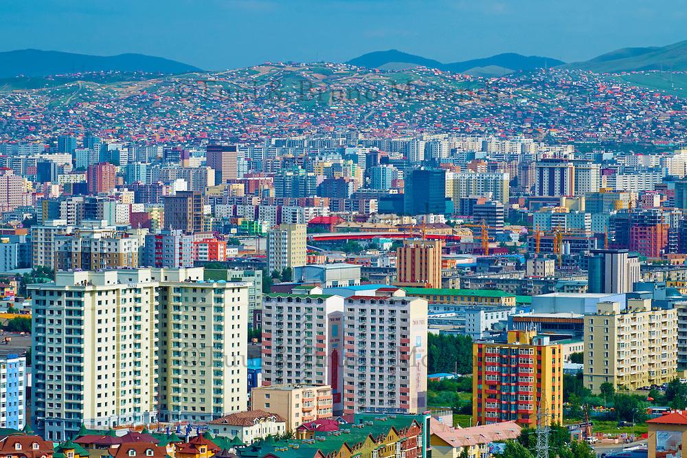 Mongolie, Oulan Bator, vue generale // Mongolia, Ulan Bator, cityscape