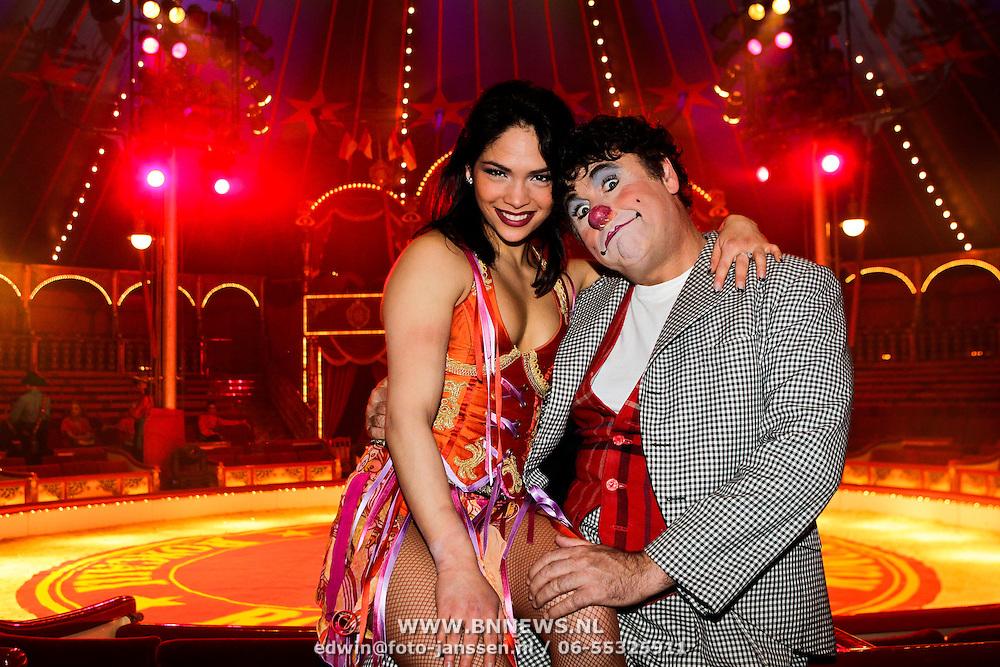 NLD/Amsterdam/20100602 - Clown David Larible en dochter Shirley Larible van Circus Roncalli