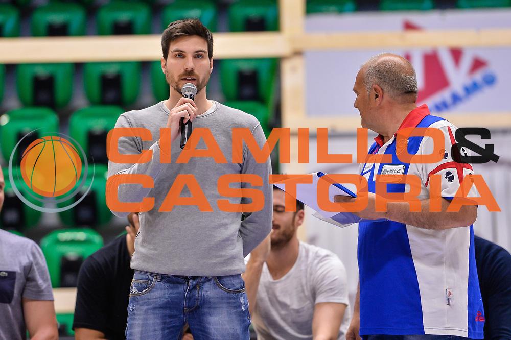 Diego Monaldi<br /> Saluti Finali Banco di Sardegna Dinamo Sassari<br /> Legabasket Serie A LBA Poste Mobile 2016/2017<br /> Sassari 18/05/2017<br /> Foto Ciamillo-Castoria