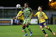 Forest Green Rovers Udoka Godwin-Malife(22) controls the ball during the Leasing.com EFL Trophy match between Forest Green Rovers and Coventry City at the New Lawn, Forest Green, United Kingdom on 8 October 2019.