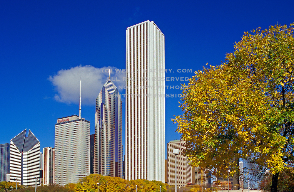 Image of the skyline of Chicago, Illinois, American Midwest