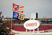 KANSAS CITY, MO - OCTOBER 25:   Fans of the Kansas City Chiefs outside Arrowhead Stadium before a game against the San Diego Chargers on October 25, 2009 in Kansas City, Missouri.  The Chargers defeated the Chiefs 37-7.  (Photo by Wesley Hitt/Getty Images) *** Local Caption ***