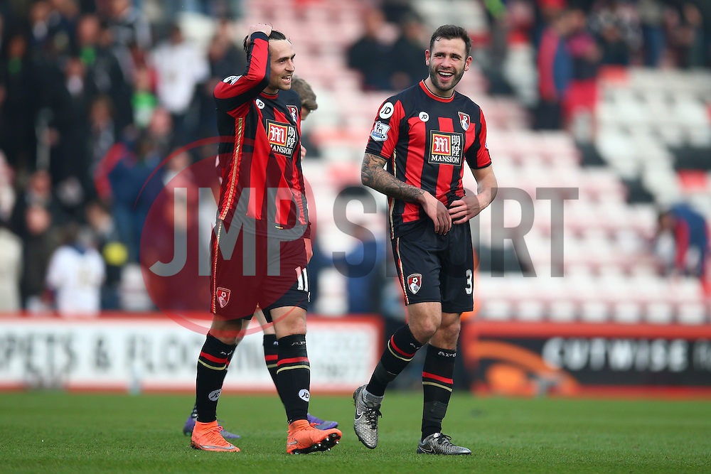Steve Cook of Bournemouth celebrates their win over Swansea City, Bournemouth 3-2 Swansea City - Mandatory by-line: Jason Brown/JMP - Mobile 07966 386802 12/03/2016 - SPORT - FOOTBALL - Bournemouth, Vitality Stadium - AFC Bournemouth v Swansea City - Barclays Premier League