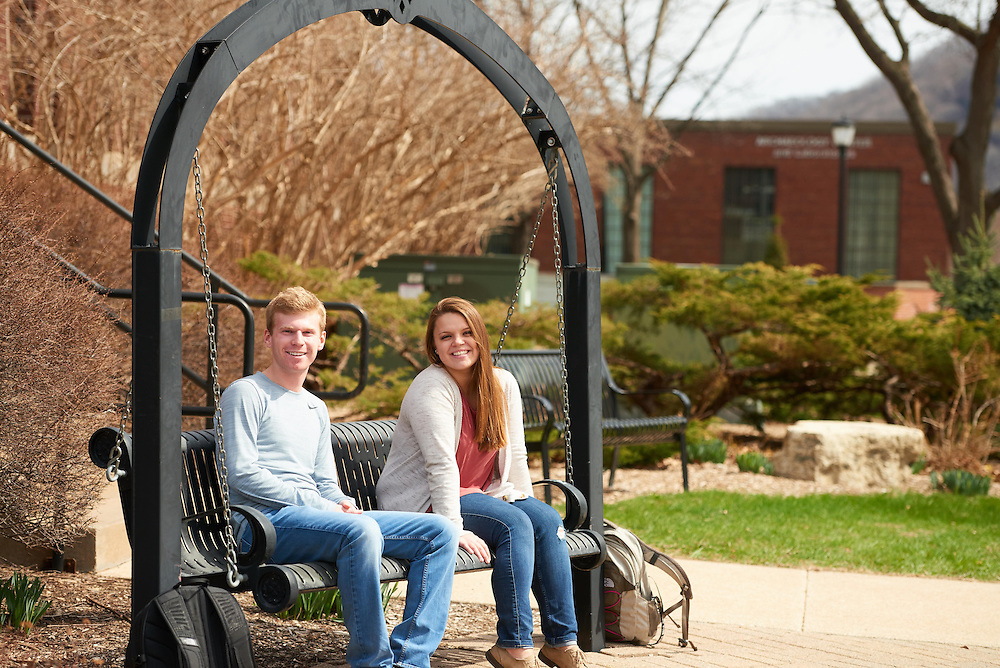 Activity; Relaxing; Socializing; Talking; Buildings; Bluffs; Wittich; Location; Outside; People; Student Students; Woman Women; Man Men; Spring; April; Time/Weather; sunny; Type of Photography; Candid; UWL UW-L UW-La Crosse University of Wisconsin-La Crosse Rachael Gruen-Accounting <br /> Brandon Hein Management and Marketing