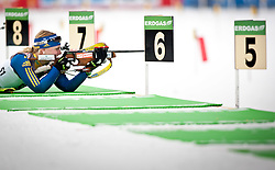 "19.01.2012, Südtirol Arena, Antholz, ITA, E.ON IBU Weltcup, 6. Biathlon, Antholz, Sprint Damen, im Bild Jenny Jonsson (SWE) // Jenny Jonsson (SWE) during Sprint Women E.ON IBU World Cup 6th, ""South Tyrol Arena"", Antholz-Anterselva, Italy on 2012/01/19, EXPA Pictures © 2012, PhotoCredit: EXPA/ Juergen Feichter"
