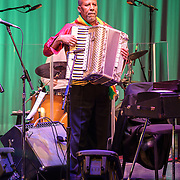 WASHINGTON, DC - February 11th, 2014 - Hailu Mergia performs on the Millennium Stage at the Kennedy Center. Mergia, a star of Ethiopian music in the 1970s as a member of the Walias Band, now drives a cab in Washington, D.C. (Photo by Kyle Gustafson / For The Washington Post)