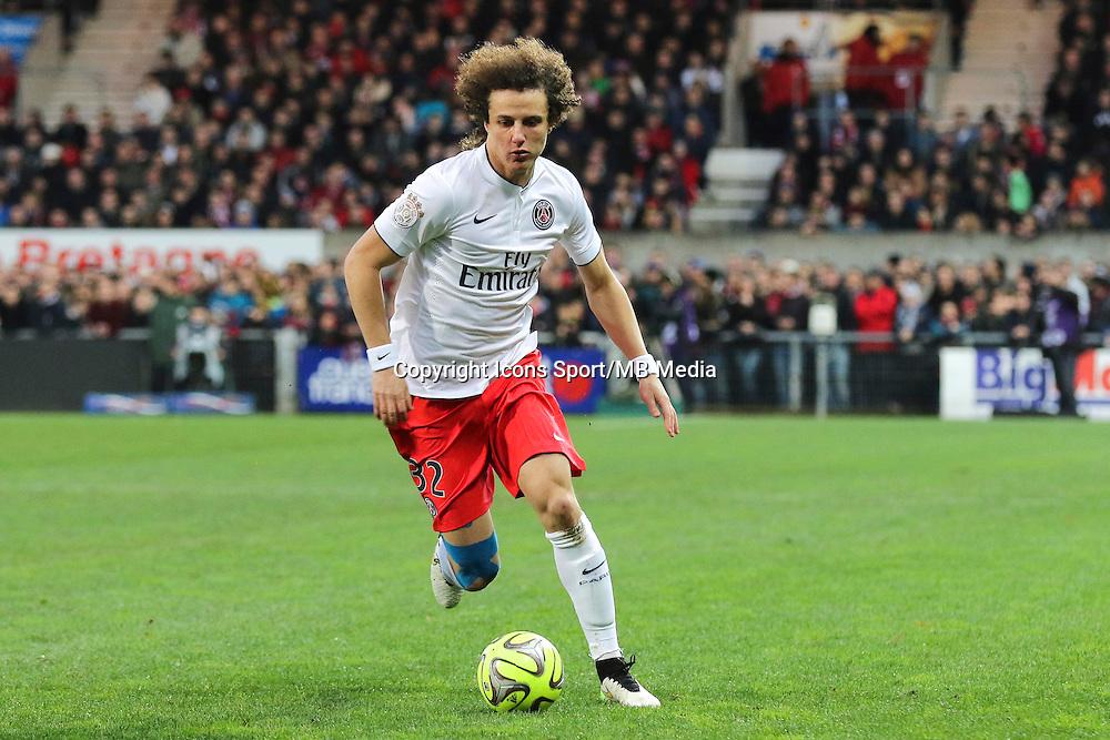 David LUIZ - 14.12.2014 - Guingamp / Paris Saint Germain - 18eme journee de Ligue 1<br />Photo : Vincent Michel / Icon Sport