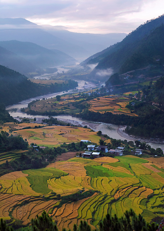 Landscape in eastern Bhutan.
