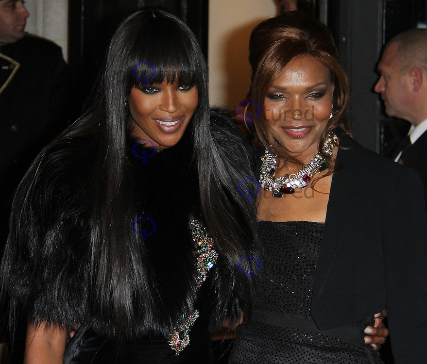 Naomi Campbell; Valerie Campbell British Fashion Awards, The Savoy, Strand, London, UK, 07 December 2010:  Contact: Ian@Piqtured.com +44(0)791 626 2580 (Picture by Richard Goldschmidt)