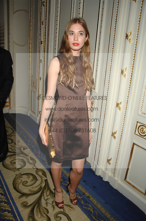ANOUSKA BECKWITH daughter of Tamara Beckwith at a party to celebrate the launch of The Essential Party Guide held at the Mandarin Oriental Hyde Park, 66 Knightsbridge, London on 27th March 2007.<br />