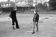 Neville and friend at Micklefield Park,High Wycombe. UK, 1980s.