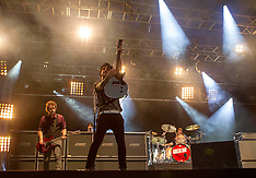 Green Day play at the Reading Festival 25-8-12