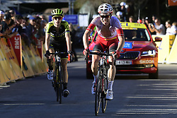 March 16, 2019 - Col De Turini, France - EDET Nicolas (FRA) of COFIDIS, SOLUTIONS CREDITS and YATES Simon Philip (GBR) of MITCHELTON - SCOTT pictured during stage 7 of the 2019 Paris - Nice cycling race with start in Nice and finish in Col de Turini  on March 16, 2019 in Col De Turini, France, (Credit Image: © Panoramic via ZUMA Press)