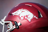 OXFORD, MS - OCTOBER 28:  Helmet of the Arkansas Razorbacks during a game against the Ole Miss Rebels at Hemingway Stadium on October 28, 2017 in Oxford, Mississippi.  The Razorbacks defeated the Rebels 38-37.  (Photo by Wesley Hitt/Getty Images) *** Local Caption ***