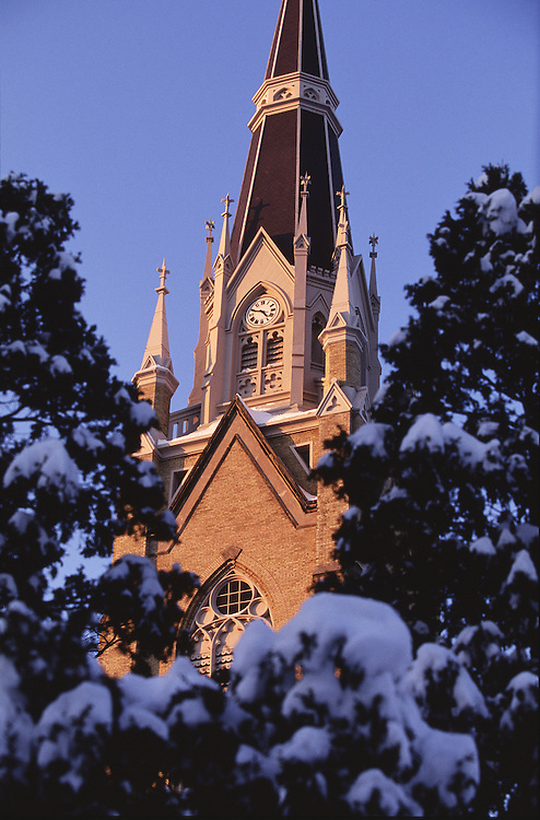Basilica of the Sacred Heart in winter.