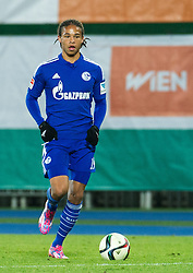 24.01.2015, Ernst Happel Stadion, Wien, AUT, FS Vorbereitung, Fußball Testspiel, SK Rapid Wien vs FC Schalke 04, im Bild Leroy Sane (FC Schalke 04) // during a international football frindly match between SK Rapid Vienna and FC Schalke 04 at the Ernst Happel Stadium, Vienna, Austria on 2015/01/24. EXPA Pictures © 2015, PhotoCredit: EXPA/ Michael Gruber