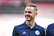Leicester City Midfielder, James Maddison (10) all smiles during the Premier League match between Bournemouth and Leicester City at the Vitality Stadium, Bournemouth, England on 15 September 2018.