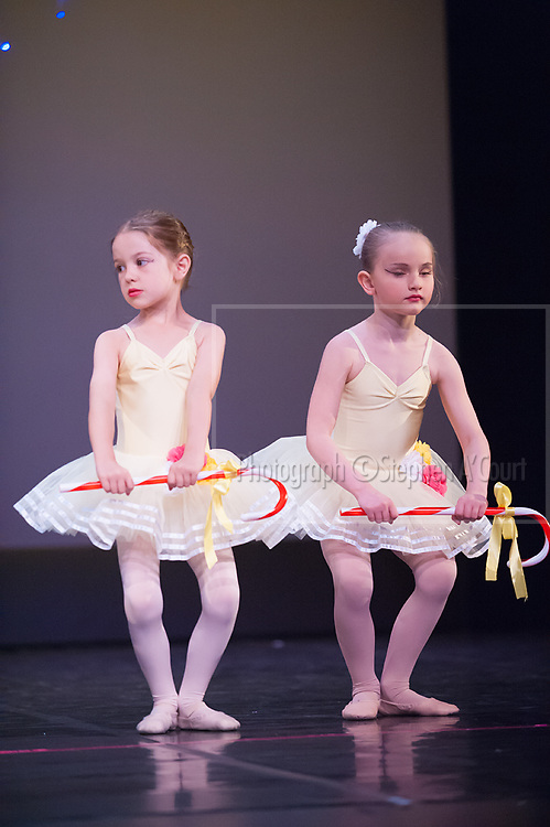 """Wellington, NZ. 5.12.2015. Candy Canes """"Rainbows"""", from the Wellington Dance & Performing Arts Academy end of year stage-show 2015. Little Show, Saturday 12.45pm. Photo credit: Stephen A'Court.  COPYRIGHT ©Stephen A'Court"""