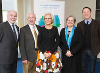 At a Universal Design Symposium, part of Galway's City Council's Social Inclusion week 2015 were Dr. Ger Craddock, Chief Officer of the Centre for Excellence in University Design,David O'Connor former County manager Fingal, Karin Bendixen, Occupational Therapist , Fionnuala Rogerson International Union of Architects UIA, Neil Murphy MRIAI with  Cllr Frank Fahy Mayor of Galway City at the Town Hall Theatre, Galway. Photo:Andrew Downes Xposure