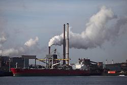 NETHERLANDS AMSTERDAM IJMUIDEN 11MAY11 - Corus steel plant at Ijmuiden at the entry lock to the port of Amsterdam, Netherlands...Photo by Jiri Rezac
