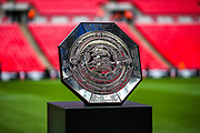The Charity Shield Trophy during the FA Community Shield match between Manchester City and Liverpool at Wembley Stadium, London, England on 4 August 2019.