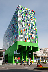 Exterior of modern building housing Stichting University of California the Netherlands at Utrecht University in The Netherlands