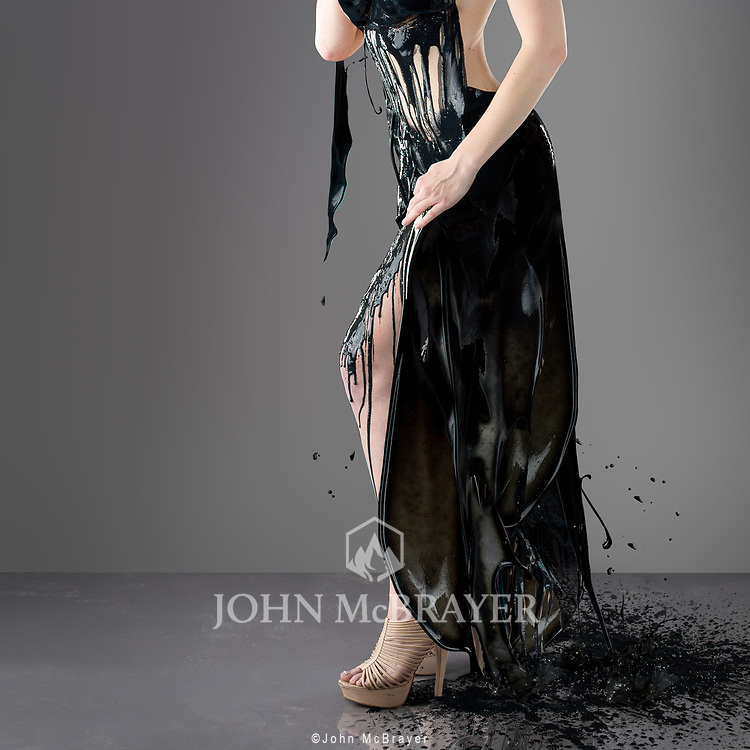 This was my first attempt at creating a dress using paint. © John McBrayer