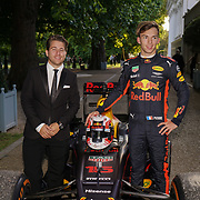 Hurlingham Club ,London, England, UK. 10th July, 2017. Pierre Gasly is a red bull racing demonstration at The Grand Prix Ball attracted a host of star-studded celebrity guests last night at Hurlingham Club , including Formula 1 drivers as well as iconic Formula 1 cars. Guests mingled with the elite whist being enterained with live performances by award winning UK artists and DJs ahead of the British Grand Prix at Silverstone.
