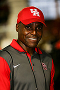 Carl Lewis, former Olympian and world champion in track and field, during the NCAA Indoor Track & Field Championships on Saturday, March 12, 2016, in his home town of Birmingham, Ala. Photo by Spencer Allen