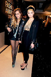 Left to right, ALICE DELLAL and PIXIE GELDOF at the 2008 British Fashion Awards held at the Lawrence Hall, Westminster, London on 25th November 2008.