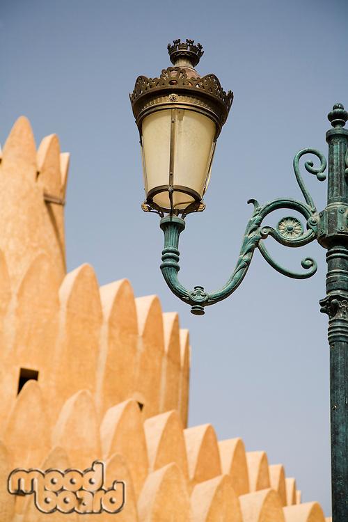 Al Ain, UAE, Architectural detail of Al Ain Palace Museum in Al Ain