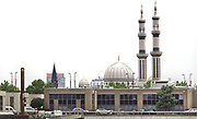Nederland, Rotterdam, 29-7-2017Minaret , minaretten, van de Essalammoskee, moskee in Rotterdam. kerk, tegenstelling cultuur, religieuze, symbool, associatieFoto: Flip Franssen
