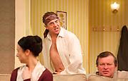A Small Family Business <br /> by Alan Ayckborn <br /> at The Olivier Theatre, NT, Southbank, London, Great Britain <br /> press photocall<br /> 4th April 2014 <br /> <br /> Nigel Lindsay<br /> Debra Gillett <br /> Gawn Grainer <br /> Amanda Hadingue<br /> Amy Marston<br /> Gerard Monaco <br /> Samuel Taylor<br /> Niky Wardley
