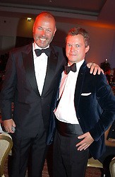 Left to right, SIMON OATES and SOREN JESSEN at the Game Conservancy Jubilee Ball in aid of the Game Conservancy Trust held at The Hurlingham Club, London SW6 on 26th May 2005<br />