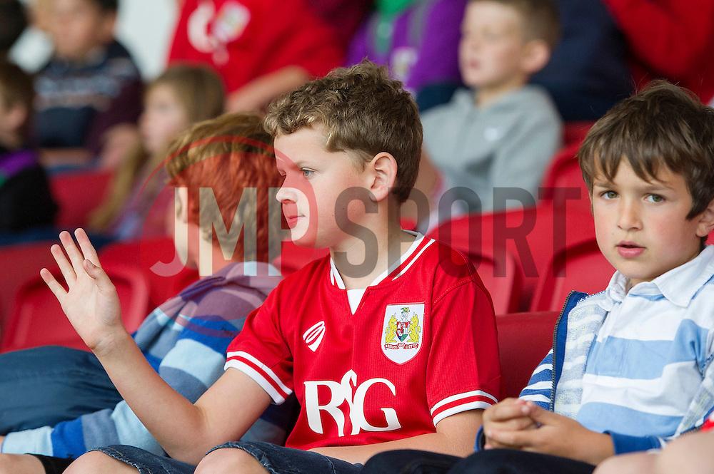 A young Bristol City fan - Mandatory byline: Dougie Allward/JMP - 07966 386802 - 03/10/2015 - FOOTBALL - Ashton Gate - Bristol, England - Bristol City v MK Dons - Sky Bet Championship