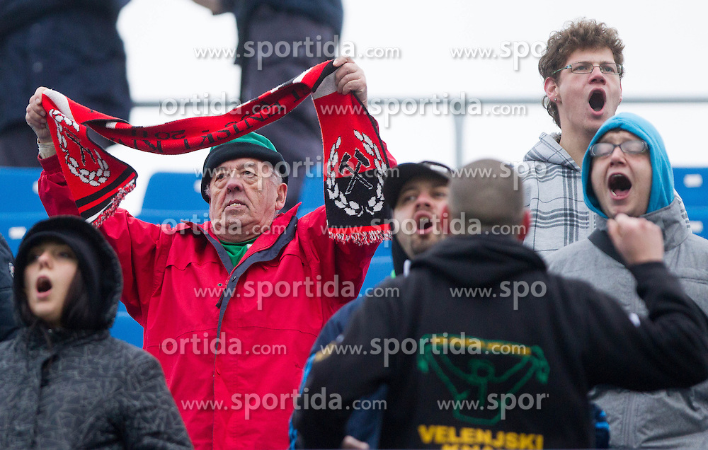 Velenjski knapi, fans of Rudar during football match between NK Celje and NK Rudar in 21st Round of Slovenian First League PrvaLiga NZS 2012/13 on December 01, 2012 in Arena Petrol, Celje, Slovenia. (Photo By Vid Ponikvar / Sportida)
