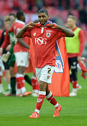 Bristol City's Mark Little celebrates on the final whistle  - Photo mandatory by-line: Joe Meredith/JMP - Mobile: 07966 386802 - 22/03/2015 - SPORT - Football - London - Wembley Stadium - Bristol City v Walsall - Johnstone Paint Trophy Final