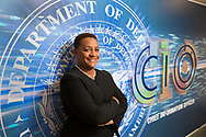 Essye B. Miller, Deputy CIO for Cybersecurity, U.S. Department of Defense at the Pentagon on Sept. 28, 2017. (Alan Lessig/Staff)
