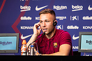 Presentation FC Barcelona new player Arthur Melo from Brazil on July 11, 2018 at Camp Nou stadium in Barcelona, Spain - Photo Xavier Bonilla / Spain ProSportsImages / DPPI / ProSportsImages / DPPI