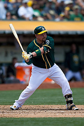 OAKLAND, CA - JULY 23:  Billy Butler #16 of the Oakland Athletics at bat against the Toronto Blue Jays during the third inning at O.co Coliseum on July 23, 2015 in Oakland, California. The Toronto Blue Jays defeated the Oakland Athletics 5-2. (Photo by Jason O. Watson/Getty Images) *** Local Caption *** Billy Butler