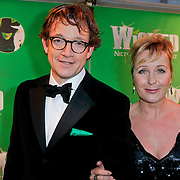 NLD/Scheveningen/20111106 - Premiere musical Wicked, Paul de Groot en Inge Iepenburg