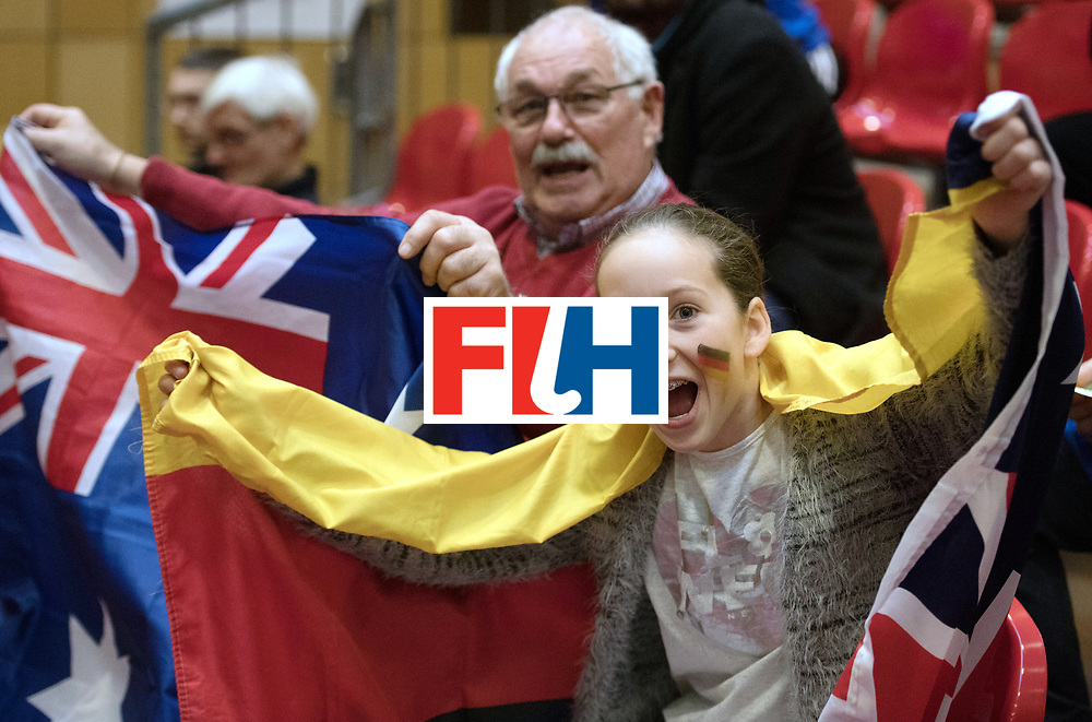 BERLIN - Indoor Hockey World Cup<br /> Trinidad &amp; Tobago - Australia<br /> foto: Fans<br /> WORLDSPORTPICS COPYRIGHT FRANK UIJLENBROEK