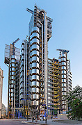 Lloyds Building, London. Architectural Style: High Tech or Structural Expressionism. Architect: Richard Rogers Partnership. Engineer: Arup Built:1986