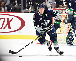 Action from Game 3 of the 2017 MasterCard Memorial Cup between the Windsor Spitfires and Seattle Thunderbirds on Sunday May 21, 2017 at the WFCU Centre in Windsor, ON. Photo by Aaron Bell/CHL Images